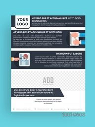 One Page Professional Business Brochure, Template or Flyer design with space for your image.