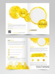 Creative Professional Two Page Brochure, Template or Flyer design with space for your images.