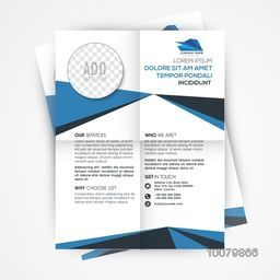 Creative Professional Template, Banner or Flyer design with space to add image for Business concept.