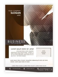 Business Brochure, Template or Flyer presentation with abstract design and space for your image.