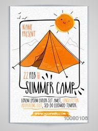 Summer Camp Flyer, Banner or Pamphlet design.