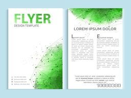 Creative professional One Page, Business Flyer, Banner, Template or Brochure with front and back presentation.