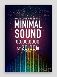 Musical Party Template, Dance Party Flyer, Night Party Banner or Club Invitation design, Creative background with shiny abstract background.