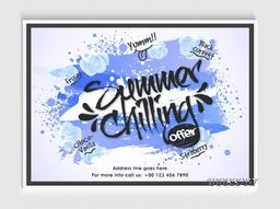 Summer Chilling Offer Flyer, Template or Banner with different Ice-Cream names for Food and Drink concept.