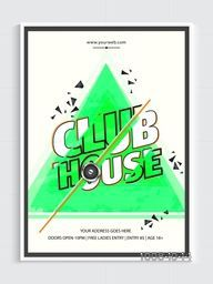 Musical Party Template, Dance Party Flyer, Night Party Banner or Club Invitation design.