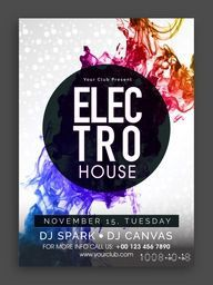 Colorful abstract design decorated, Musical Party Template, Dance Party Flyer, Night Party Banner or Club Invitation Card.