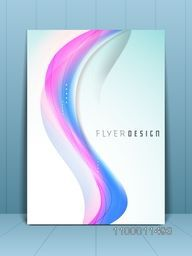 Professional business flyer template or corporate banner wave pattern for publishing, print and presentation.