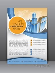Stylish professional flyer, banner or template for business and technology concept.