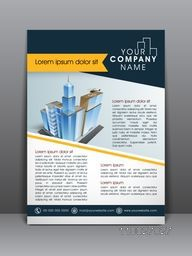 Stylish flyer, banner, template or brochure for architecture.