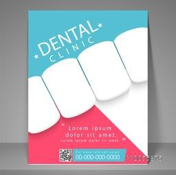 Stylish flyer, brochure or template for dental clinic.