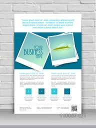 Stylish business banner, flyer or template design for tour, travel and tourism.
