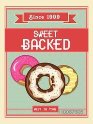 Stylish vintage menu card design for sweet backed shop or restaurant.