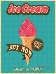 Best in town vintage menu card design for ice cream parlour or restaurant.