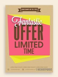 Fantastic offer for limited time flyer, banner or template design with best discount for your business.