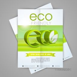 Creative stylish template, banner or flyer design for save ecology concept.