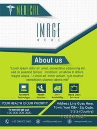 Template, Brochure or Flyer presentation for Health and Medical concept.