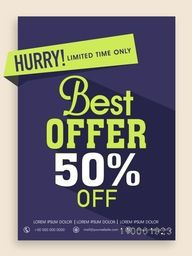Best Offer poster, banner or flyer design with 50% off for limited time.