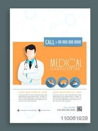 Stylish template, banner or flyer design for Health and Medical.