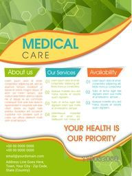Template, Brochure or Flyer design for Medical and Health Care concept.