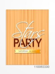 Creative Stars Party invitation card design with date, can be used as template or flyer design.