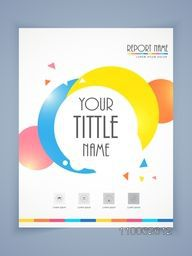 Professional flyer, template or brochure design for business report and presentation.