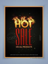 Stylish poster, banner or flyer design of Hot Sale for limited time.