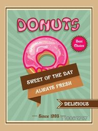 Stylish vintage menu card design for donuts shop or restaurant.
