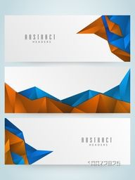 Set of creative Abstract website header or banner for your business, company and organization.