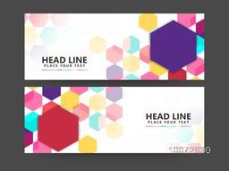 Colorful Abstract website header or banner set for your business, company and organization.