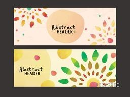 Colorful Abstract decorated, website header or banner set for your company.