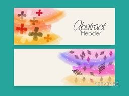 Creative colorful website header or banner with space for your text.