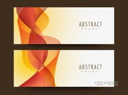 Website header or banner set with creative Abstract waves.