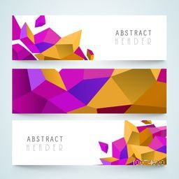 Set of colorful Abstract design website header or banner for your company.