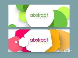 Creative colorful Abstract website header or banner set for your business.