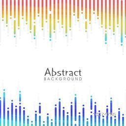 Colorful glossy abstract design decorated background.