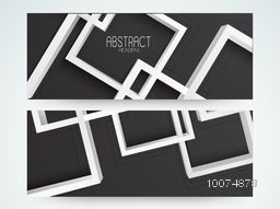 Creative abstract design decorated website header or banner set.