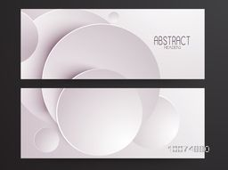 Creative abstract website header or banner set.