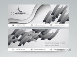 Professional website header or banner for your company with business symbol in black and white.