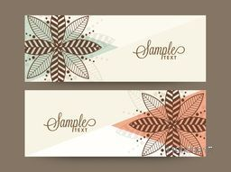 Beautiful floral website header or banner set with copyspace for your text.