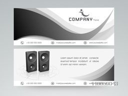 Professional header or banner for your company with business symbol in black and white.