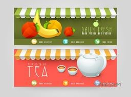 Website header or banner design for restaurant and cafe shop.