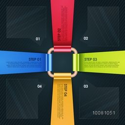 Creative colorful paper infographic elements for your Business Reports or Presentations.