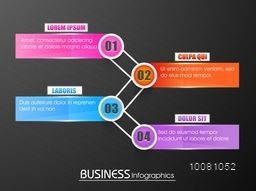 Creative colorful paper infographic elements, paper banner, paper arrows for your business.