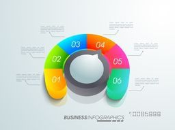 Colorful infographic element for workflow layout, business reports and financial data presentation.