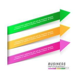 Colorful infographic arrows on white background for Business presentation.