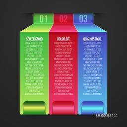 Colorful paper infographic elements for Business reports and presentation.
