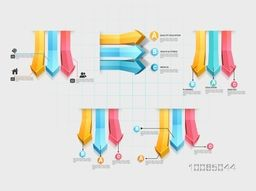 Colorful 3D arrows infographic for effective business reports and presentation.