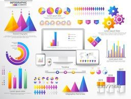 Various Business Infographic elements set for your professional report presentation.
