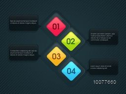 Creative Infographic layout with numbers for your Business report presentation.