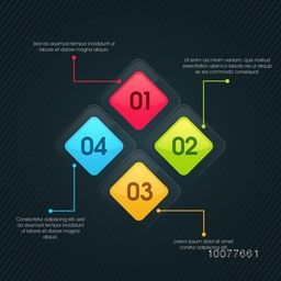 Colorful Business Infographic layout with numbers for your professional report presentation.
